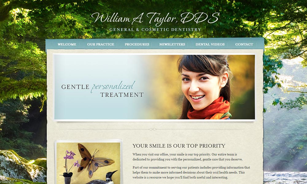 Dental Website Template for William A. Taylor DDS