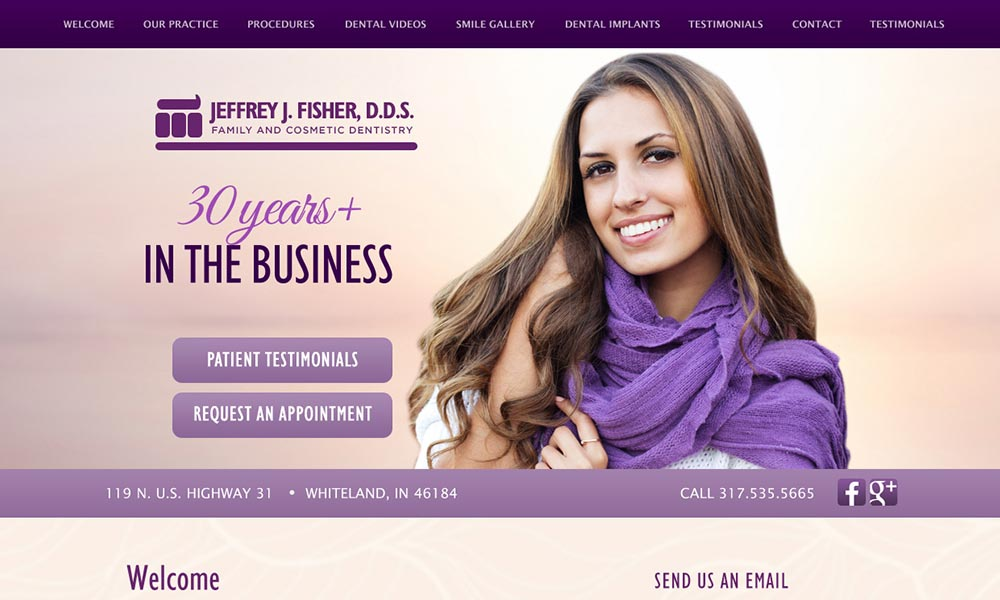 Dentist Website Template for Jeffrey J. Fisher, DDS