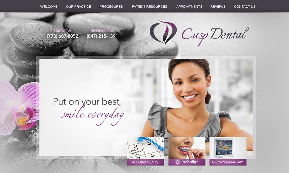 Dentist Websites for Cusp Dental Offices