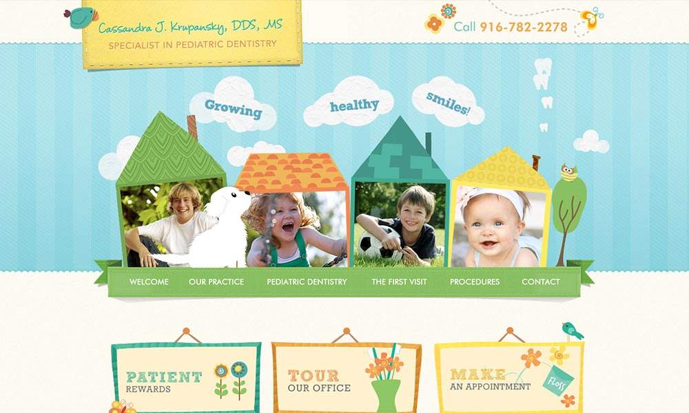 Custom Dental Website Design for Cassandra J Krupansky, DDS, MS