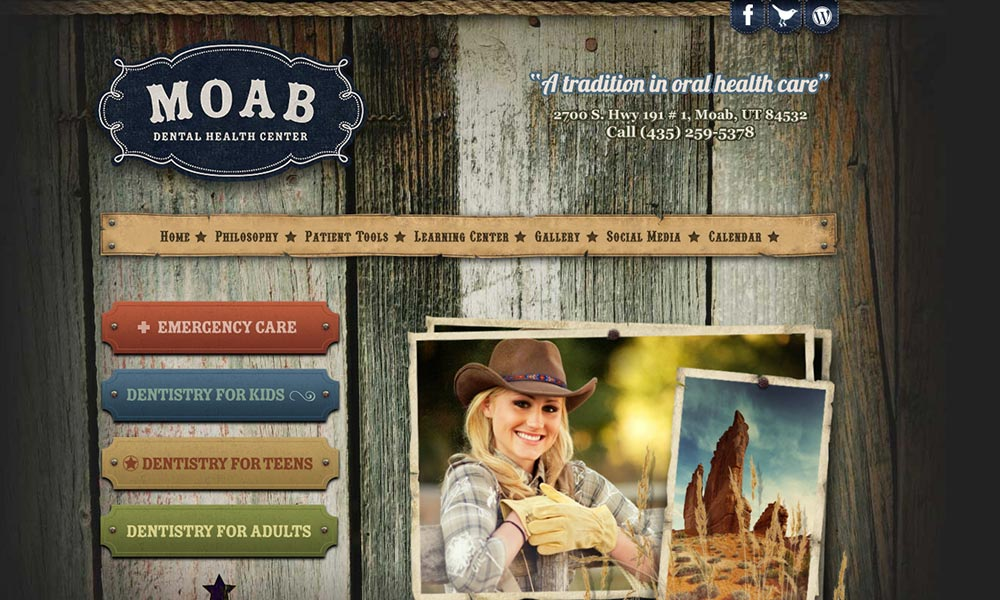 Custom Dental Website Design for MOAB Dental Health Center