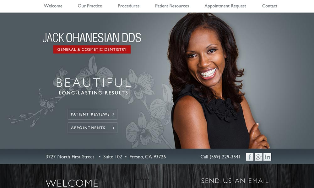 Dental Dental Website Design for Jack Ohanesian, DDS