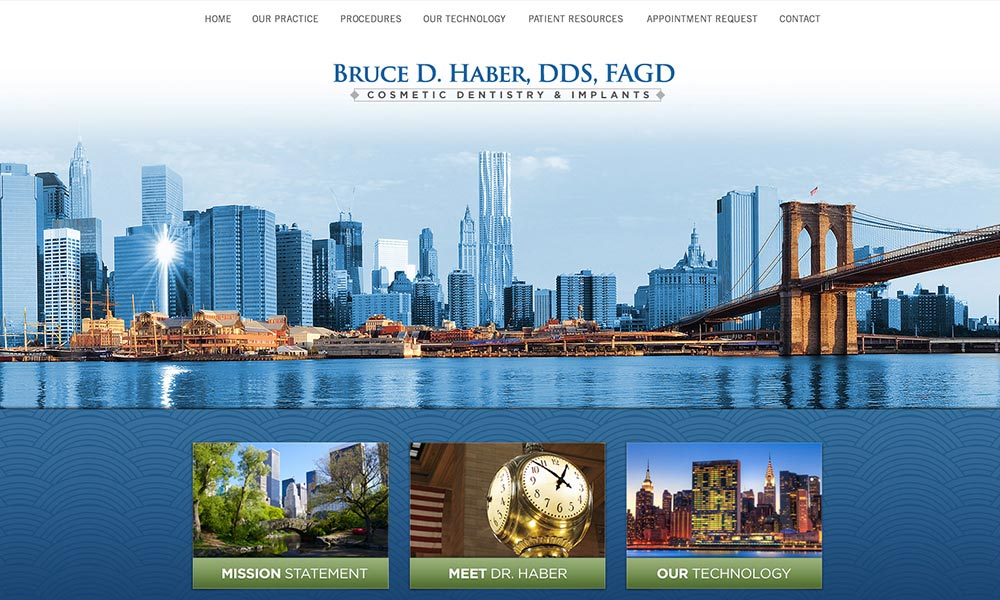 Custom Dental Website for Bruce D. Haber, DDS, FAGD