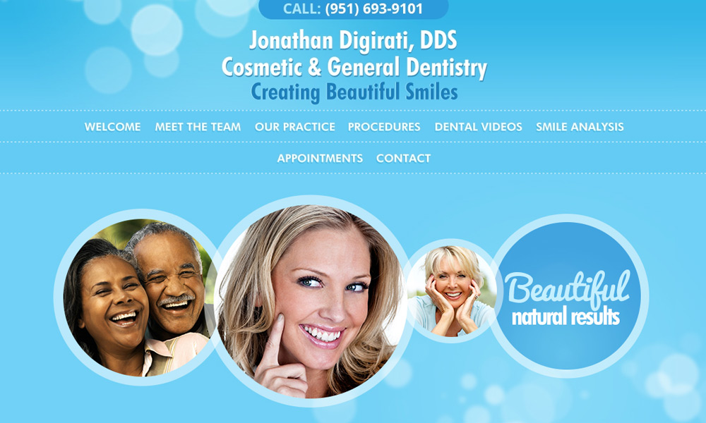 Dental Office Website Design Example 1