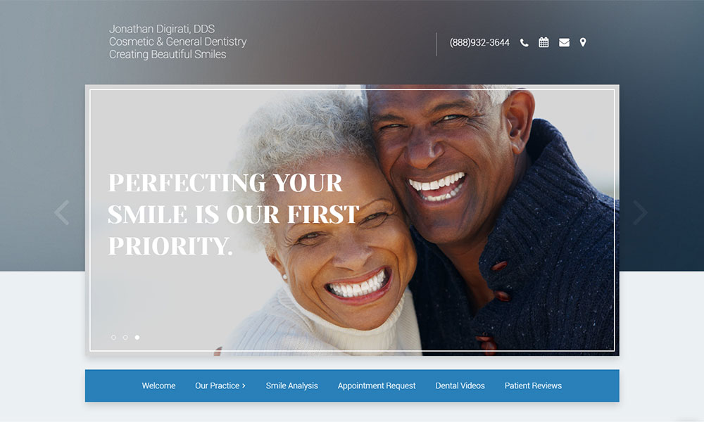Dental Office Website Design Example 10