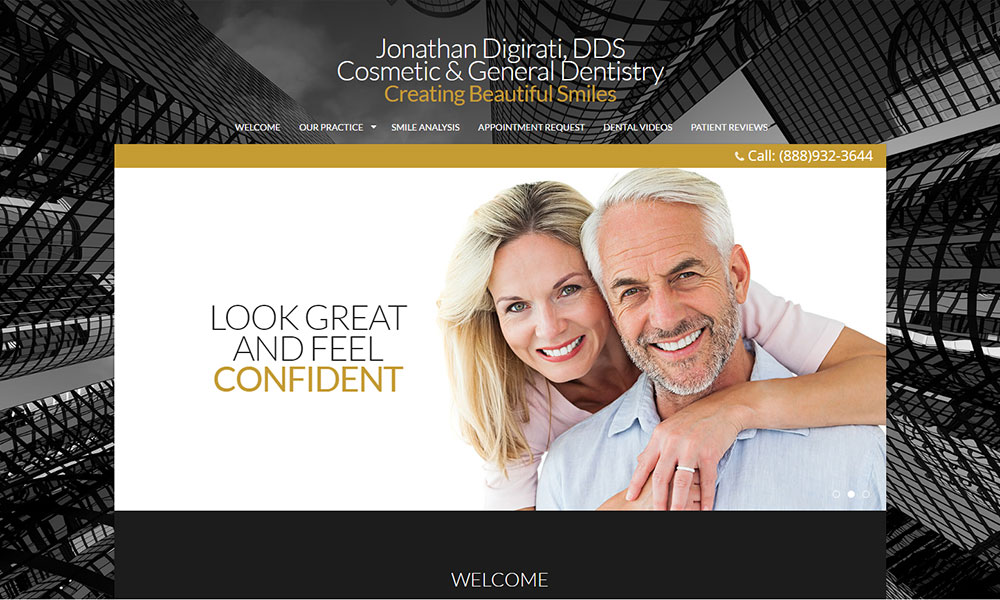 Dental Office Website Design Example 11