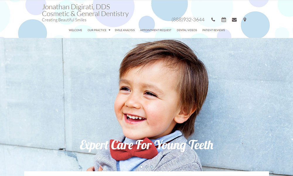 Dental Office Website Design Example 14