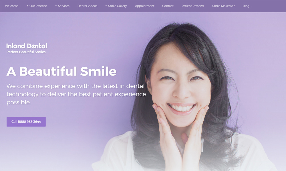 Dental Office Website Design Example 16