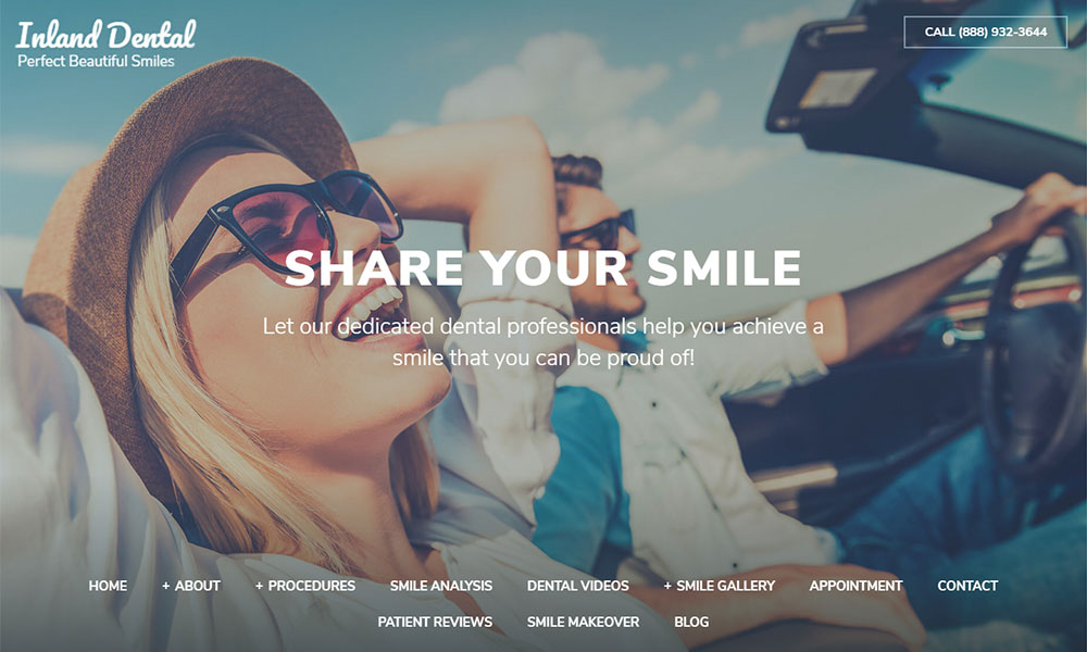 Custom Dental Website Design for The Dental Dock