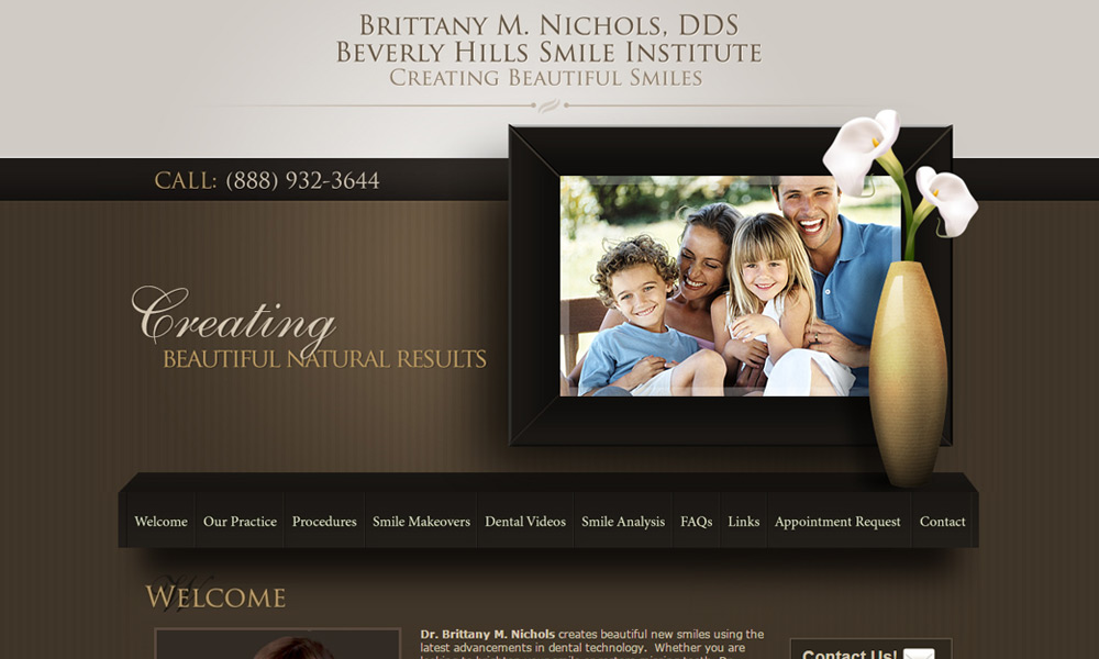 Dental Office Website Design Example 2