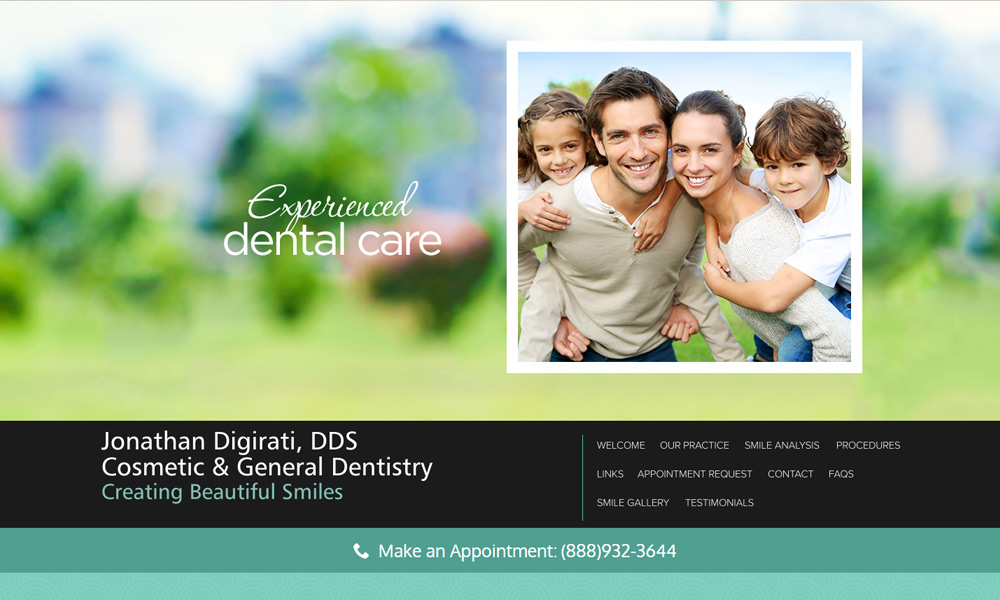 Dental Office Website Design Example 3