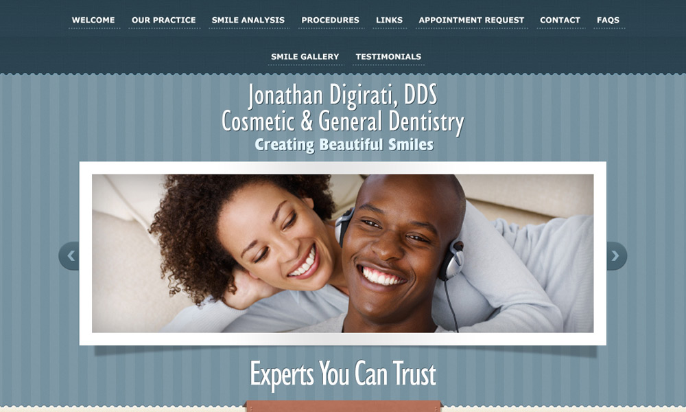 Dental Office Website Design Example 4