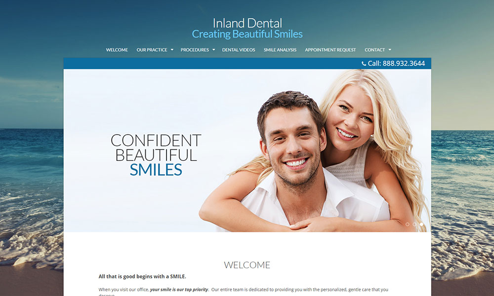 Dental Office Website Design Example 7