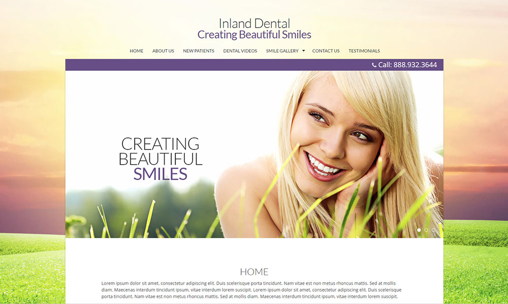 Dental Office Website Design Example 8