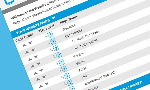 Your easy to use site editor puts you in complete control of your website.