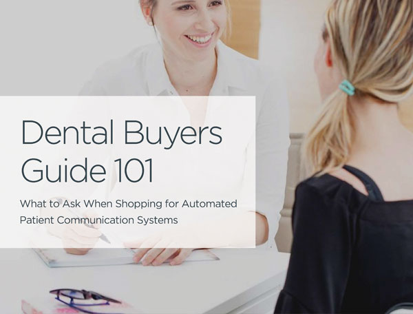 We continually optimize your dental marketing strategy to keep up with search engine algorithm updates. For more information on SEO, search engine advertising, and integrating dental recall solutions into your online marketing strategy, download this free dental buyer's guide today.