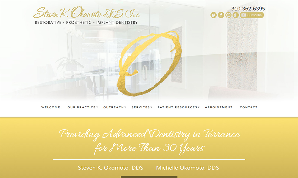 Dental Website Examples for Steven K. Okamoto, DDS