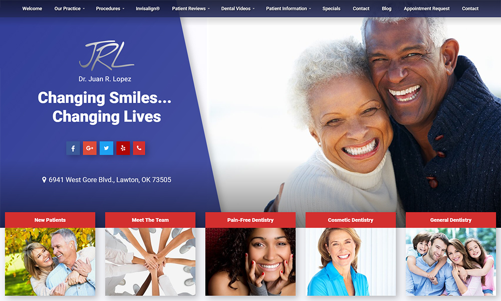 Dental Office Website Design for Dr. Juan R. Lopez