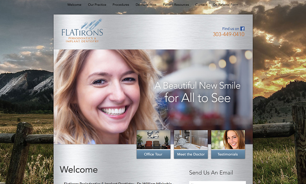 Best Dentist Website Design for Flatirons Periodontics and Implant Dentistry