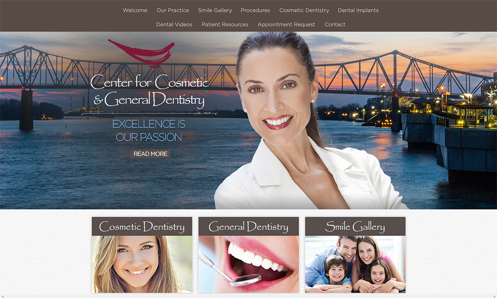 Best Dentist Website Design for the Center for Cosmetic and General Dentistry
