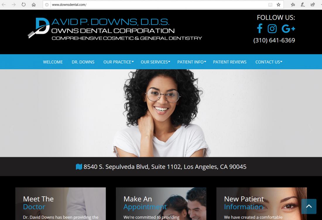 Downs Dental - Top Dental Website of 2019